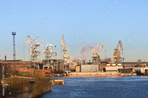 cranes at the port