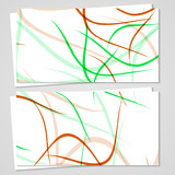 Vector business-card set for your design, abstract Illustration.