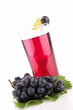 grape juice isolated