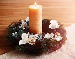 Candle in an Advent wreath