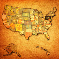 pennsylvania on map of usa
