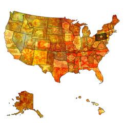 pennsylvania on map of usa
