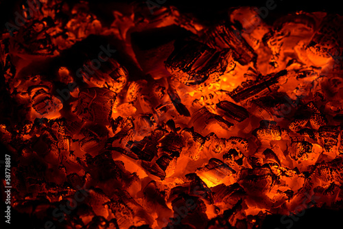 Ashes in fireplace