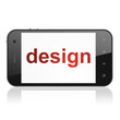Marketing concept: Design on smartphone
