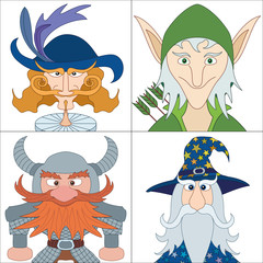 Fantasy heroes, set avatars