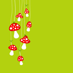 Hanging Flyagarics Green