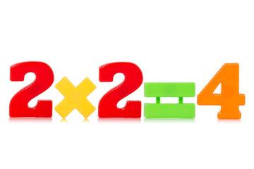 Simple mathematical formula on white