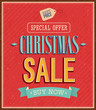 Christmas sale typographic design.