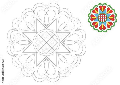 The Moravia ornament _coloring 3