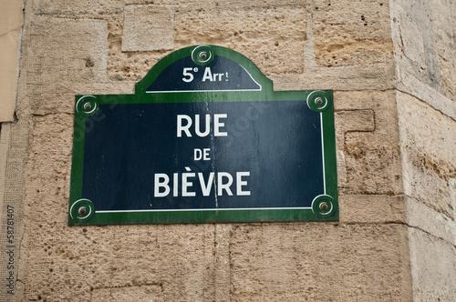 Poster rue de Bièvre à Paris