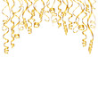 Party Background Streamers Gold