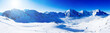 canvas print picture - Winter mountains, panorama of the Italian Alps