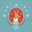 Cute Christmas Deer, portrait