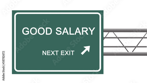 Road sign to good salary