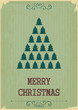 Retro Merry Christmas with Christmas Trees on a Vintage backgrou