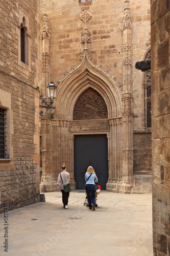 Barri Gotic (gothic quarter). Barcelona, Spain