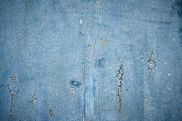 Blue texture of old colered wood with patina
