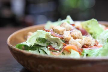 caesar salad in close up