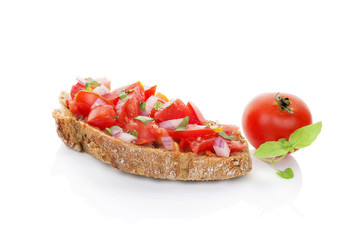 Delicious bruschetta.