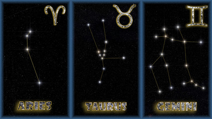 The spring signs of the zodiac