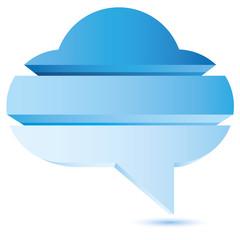 blue cloud diagram, bubble diagram for business template