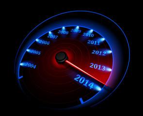 Speedometer 2014. Vector