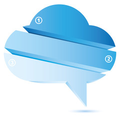bubble cloud diagram, blue cloud