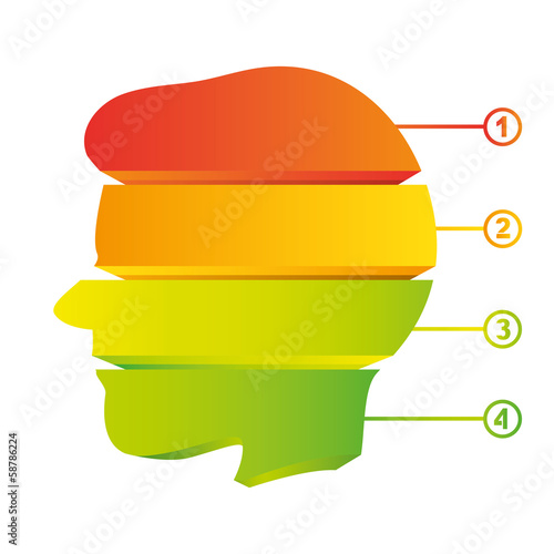 colorful head diagram, creative diagram