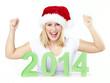 Santa shouting for Christmas and Sylvester
