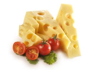 Porciones de queso emmental