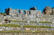 Three Windows Temple in Machu Picchu ruins  Cuzco Peru