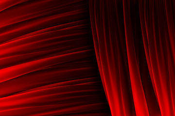 Red curtain texture with lights effects