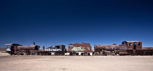 Train Cemetery at Uyuni, Bolivia.
