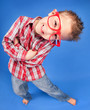 Cheerful five years old boy