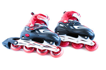 roller skates on a white background