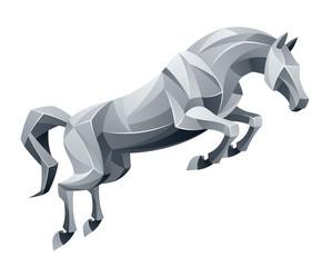 Jumping stallion
