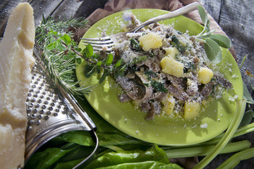 Traditional dish of the Valtellina Italy, Pizzoccheri