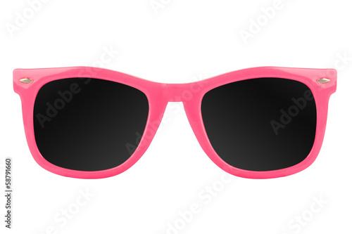 Leinwandbild Motiv Women's pink sunglasses