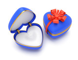 heart-shaped gift boxes