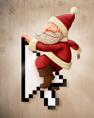 Santa Claus and shopping on-line