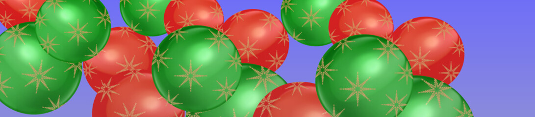 Simple Christmas bauble banner coverphoto panorama