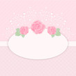 Pastel pink card with rose flowers vector template