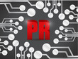 pr circuit board illustration design