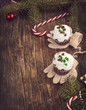 Christmas chocolate cupcakes with cream cheese frosting. Toned i