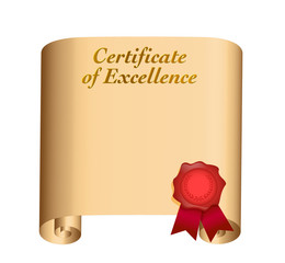 certificate of excellence illustration
