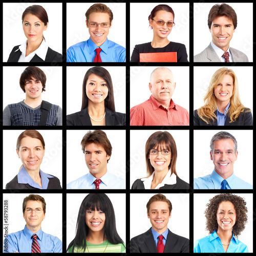 People portrait collage.