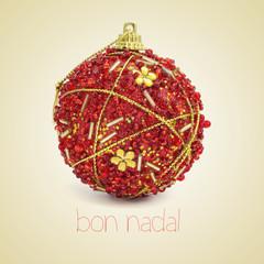 bon nadal, merry christmas in catalan