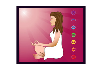 woman meditating illustration