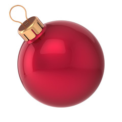Christmas ball New Year bauble red decoration sphere icon
