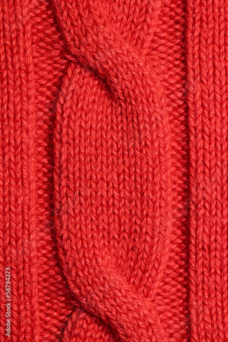 A piece of knitting sweater